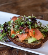 Avocado Toast - F2M Multigrain Toast, Smoked Salmon, Hass Avocado, Microgreens