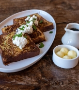 Ciabatta French Toast - Cranberry Butter, Maple Syrup