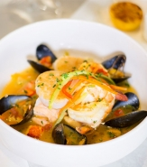 Bouillabaise - Salmon, Shrimp, Lobster, Mussels, Julienne Vegetables, Saffron Broth, Baguette, Rouille