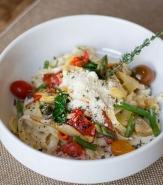 Fettuccini Primavera - Local Asparagus, Artichoke Heart, Forest Mushrooms, Red Pepper, Crispy Shallot, Chablis Creama, American Grana