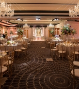 Breathtakingly beautiful wedding dinner set in the Alameda Ballroom.